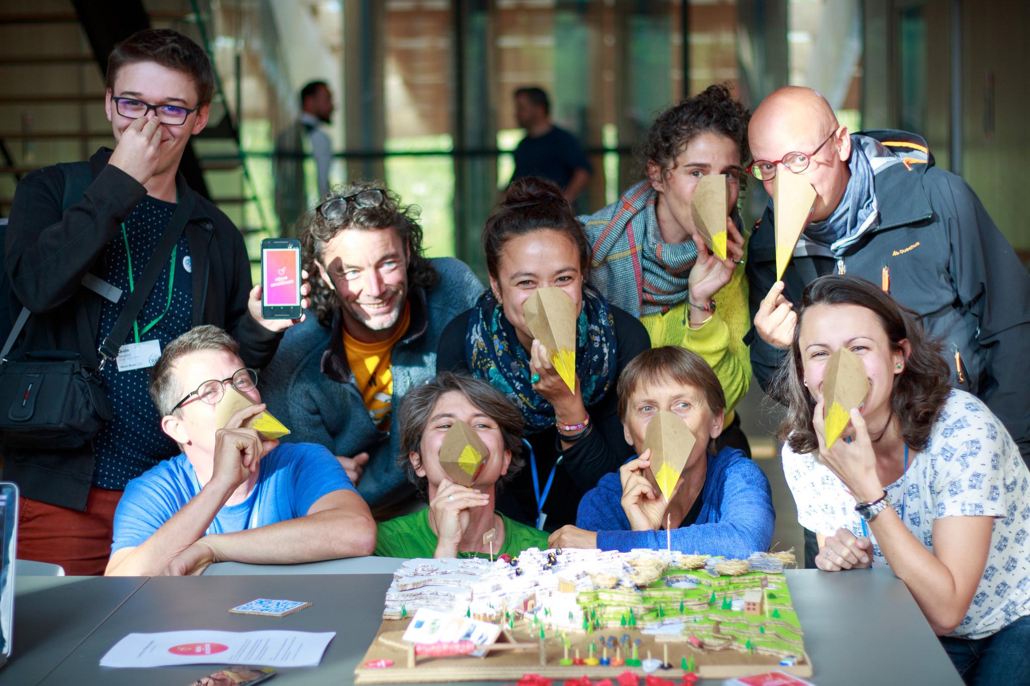 L'équipe de Pecho un chocard, Mont-Blanc Lab 2017
