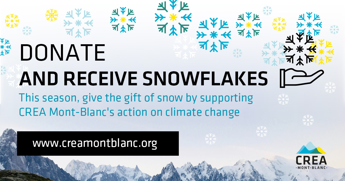 Donate  and receive snowflakes! CREA Mont-Blanc