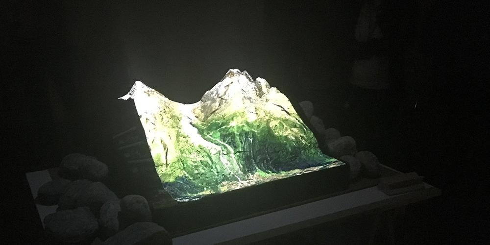 Maquette interactive de l'équipe Mutations de paysage, Mont-Blanc Lab 2017 © NMorisot
