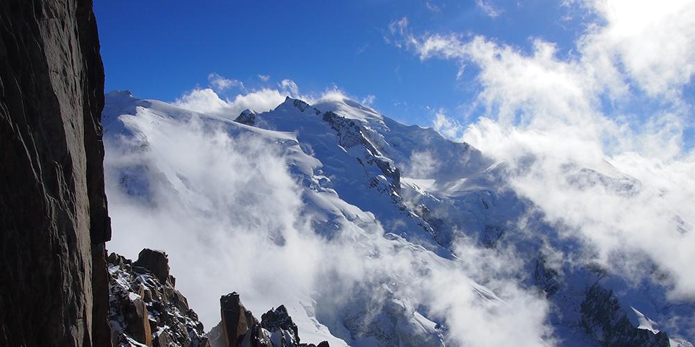 Le Mont-Blanc depuis l'Aiguille du midi